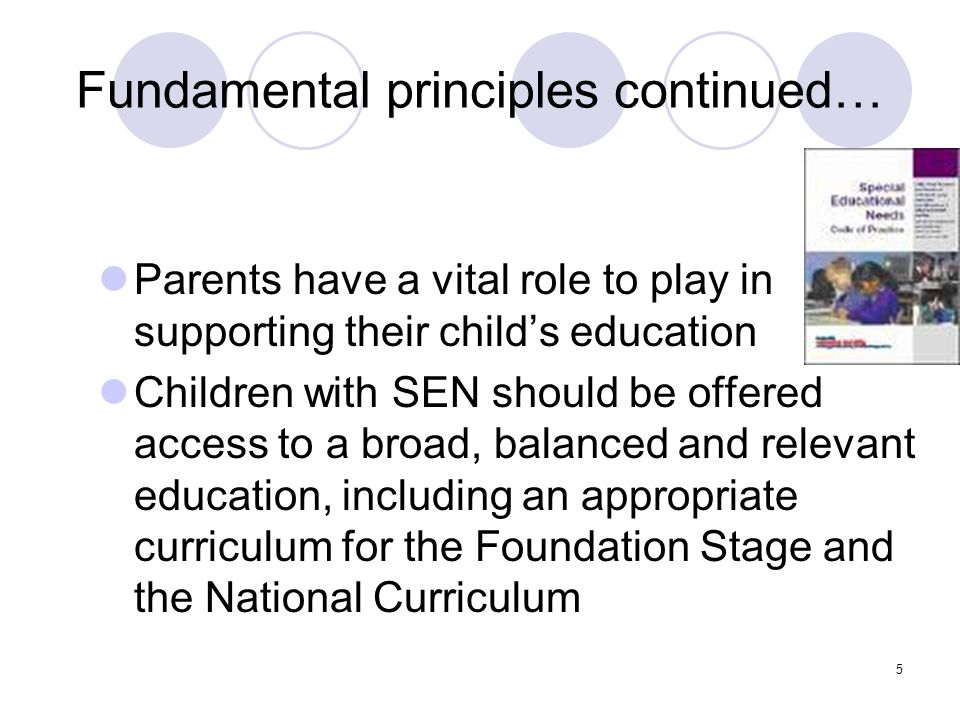 Fundamental principles continued…