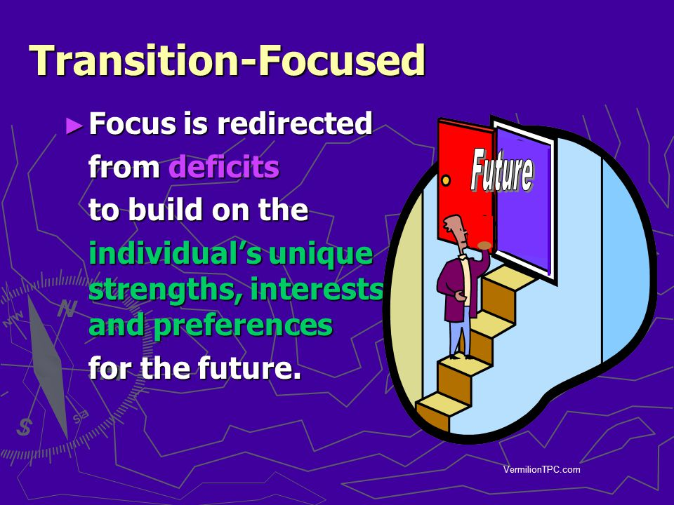Transition-Focused Future Focus is redirected from deficits