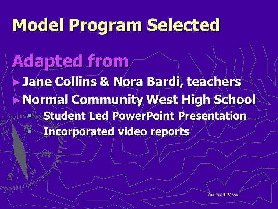 Model Program Selected