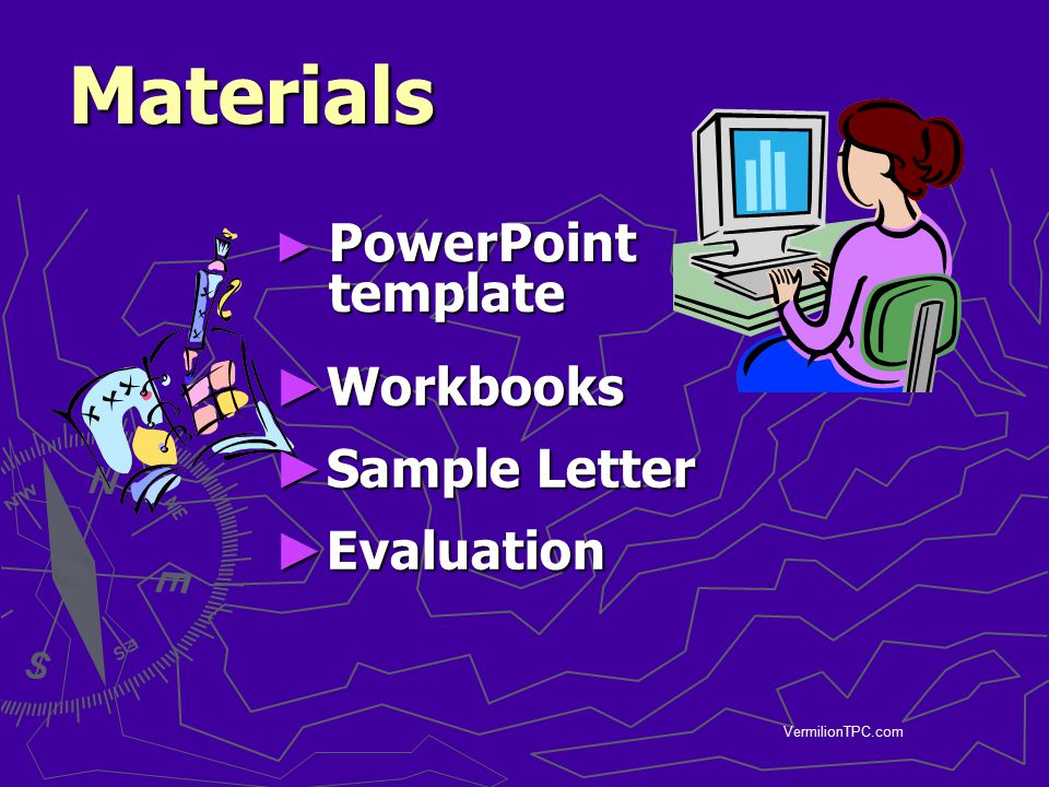 Materials PowerPoint template Workbooks Sample Letter Evaluation