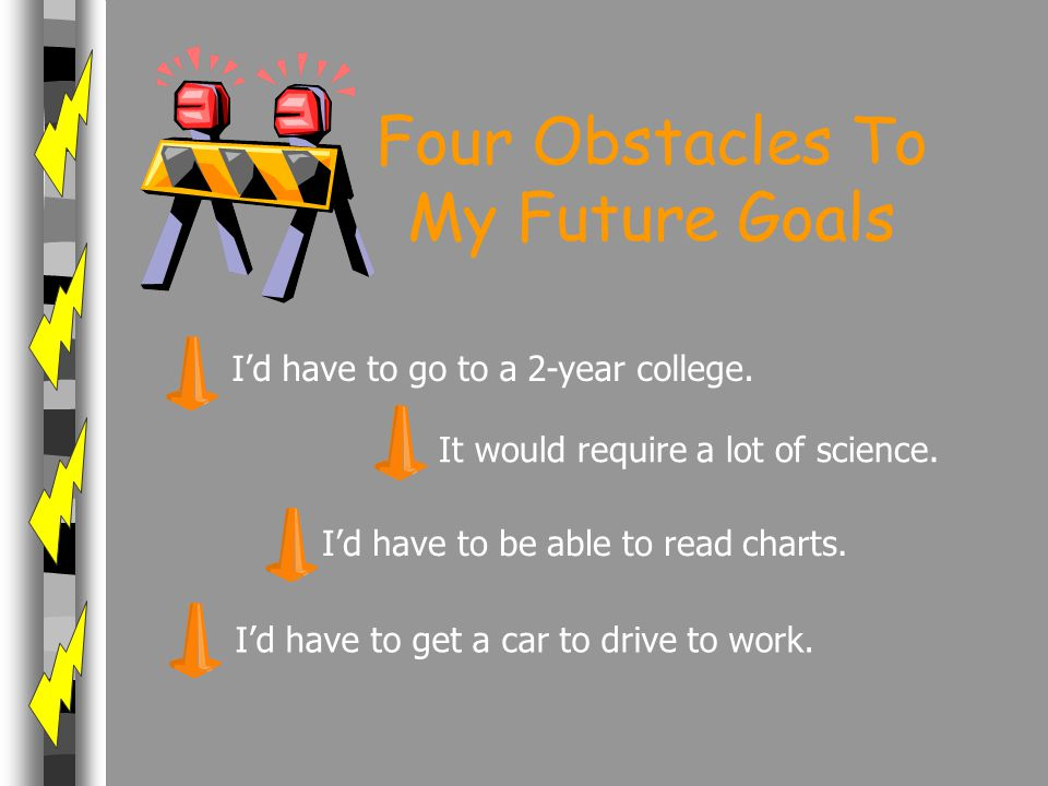 Four Obstacles To My Future Goals