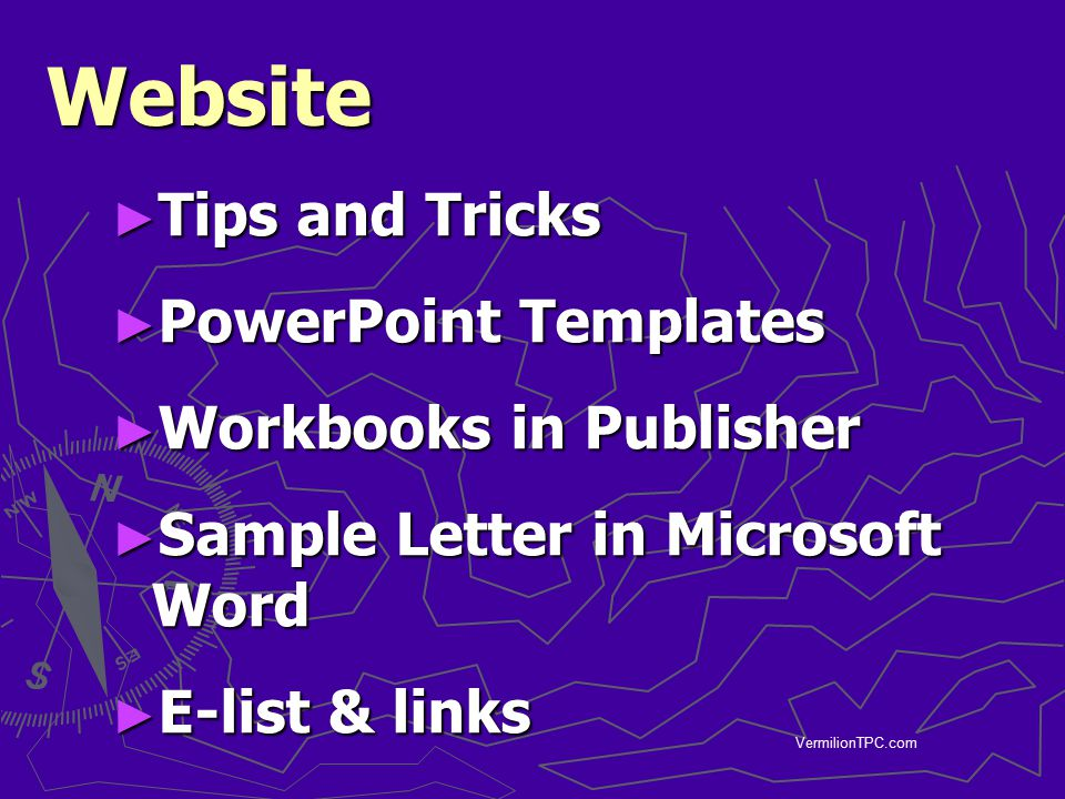 Website Tips and Tricks PowerPoint Templates Workbooks in Publisher