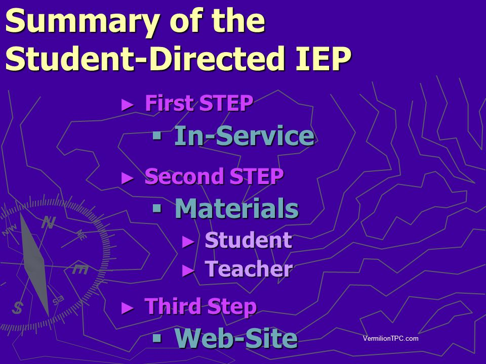 Summary of the Student-Directed IEP
