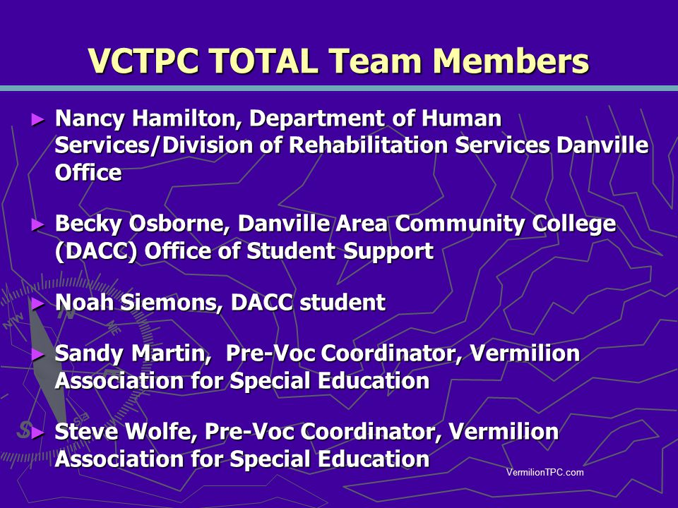 VCTPC TOTAL Team Members