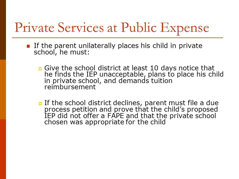 Private Services at Public Expense