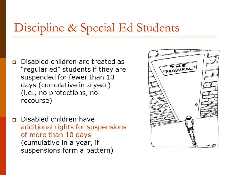 Discipline & Special Ed Students