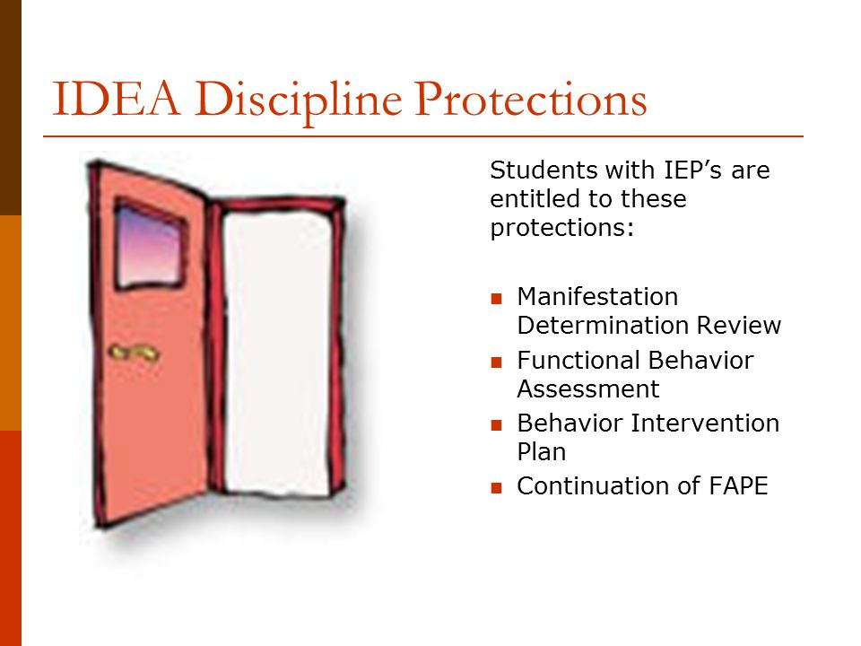 IDEA Discipline Protections