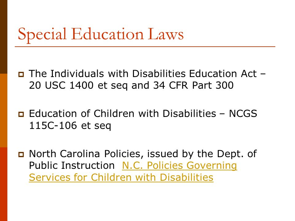 Special Education Laws