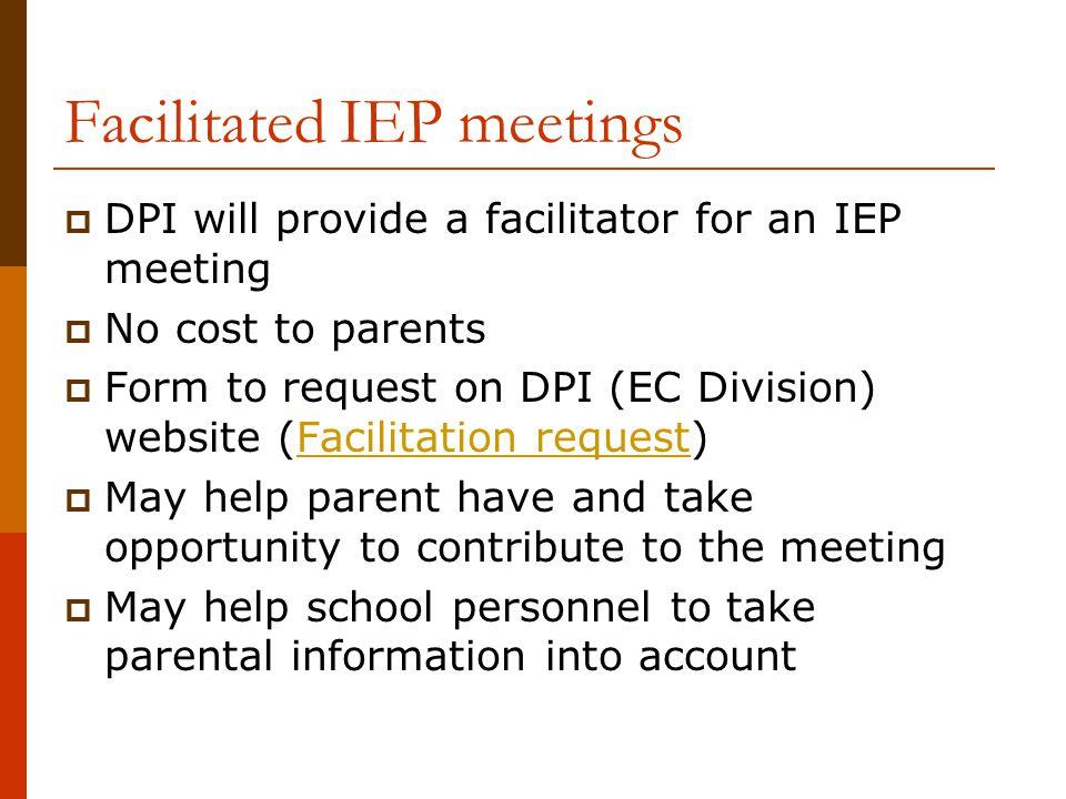 Facilitated IEP meetings
