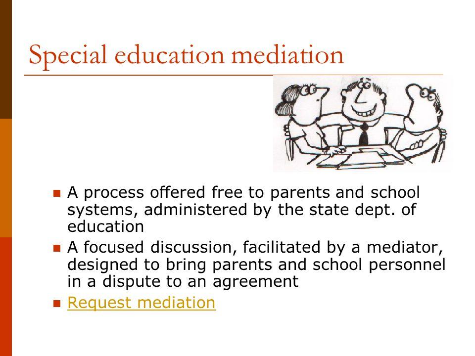 Special education mediation