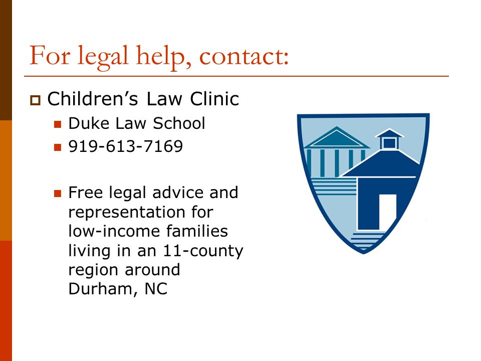 For legal help, contact: