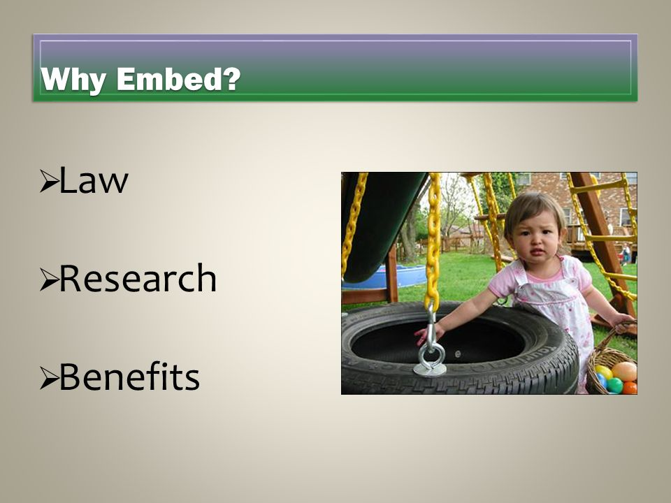 Law Research Benefits Why Embed LAURIE HANDOUTS Laws Research