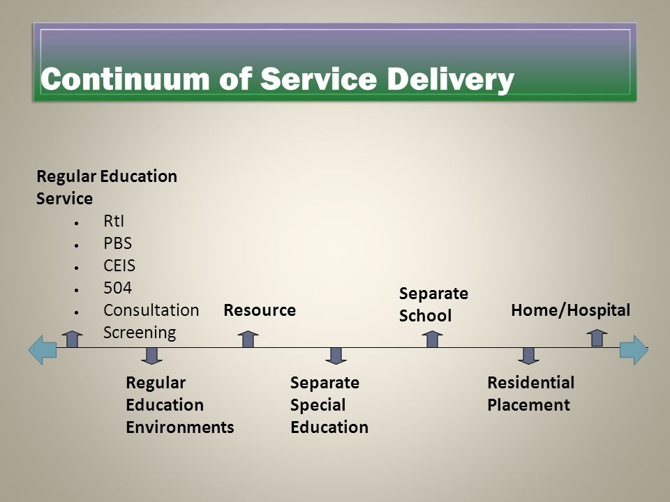 Continuum of Service Delivery