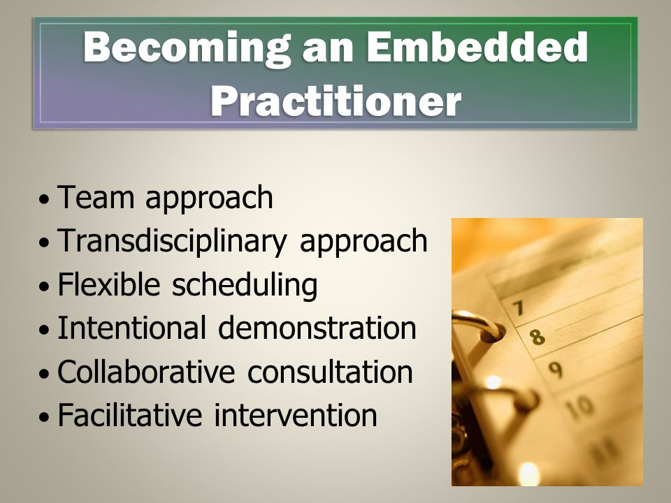 Becoming an Embedded Practitioner