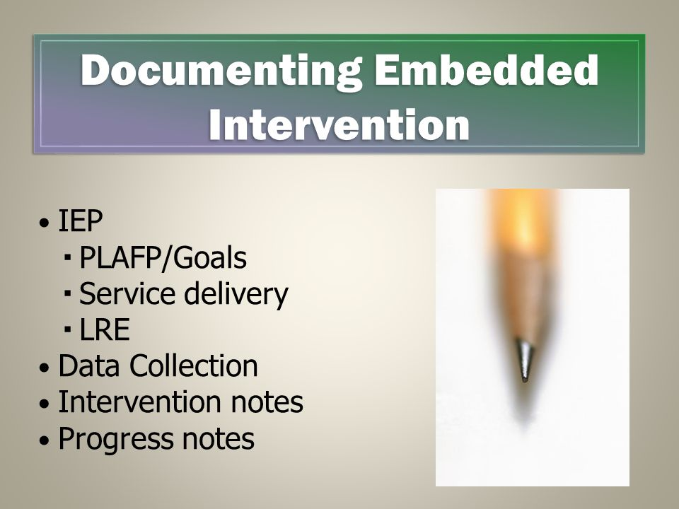 Documenting Embedded Intervention