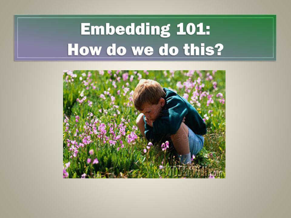 Embedding 101: How do we do this