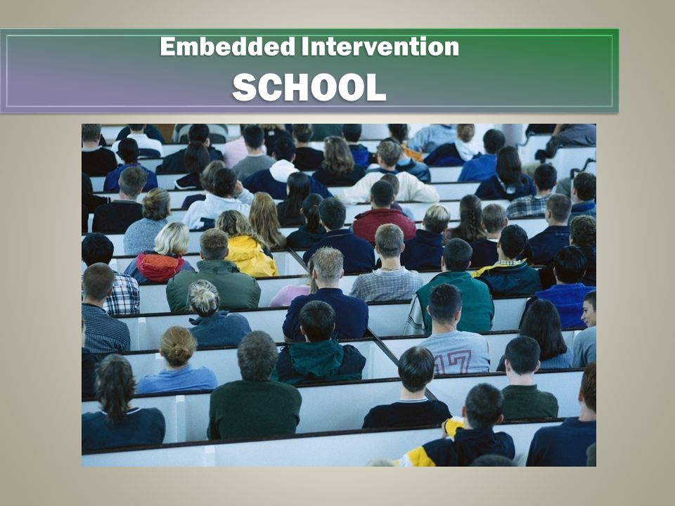 Embedded Intervention SCHOOL