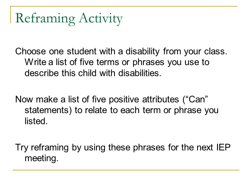 Reframing Activity