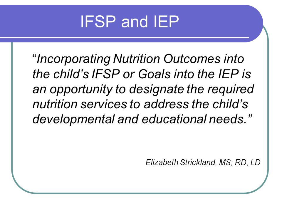 IFSP and IEP