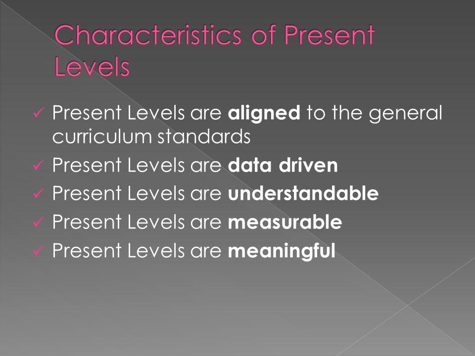 Characteristics of Present Levels