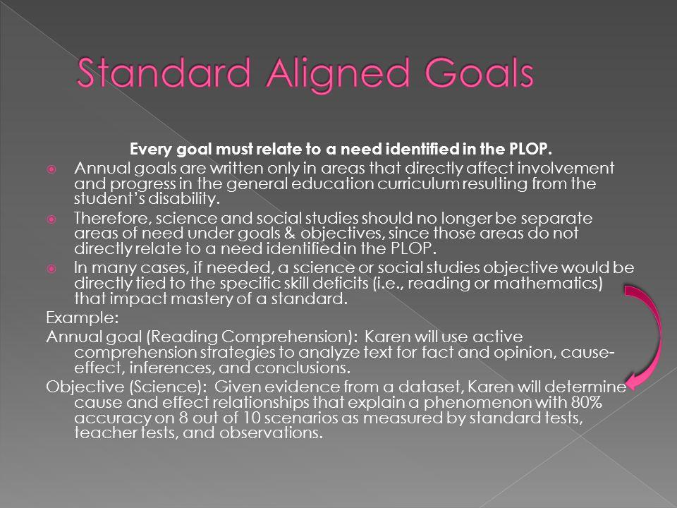 Standard Aligned Goals