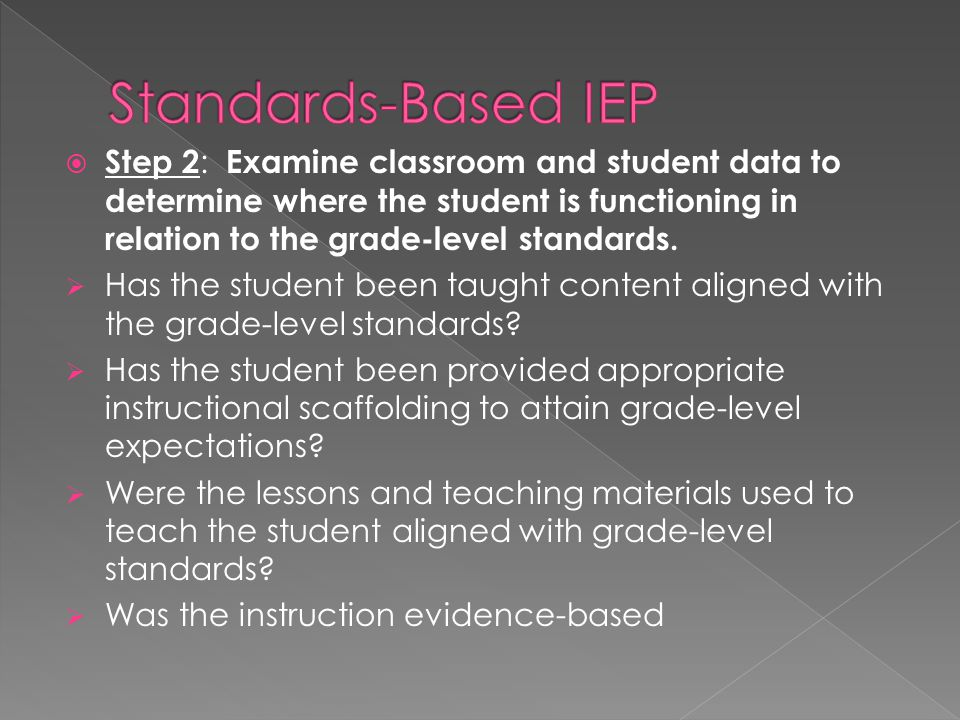 Standards-Based IEP