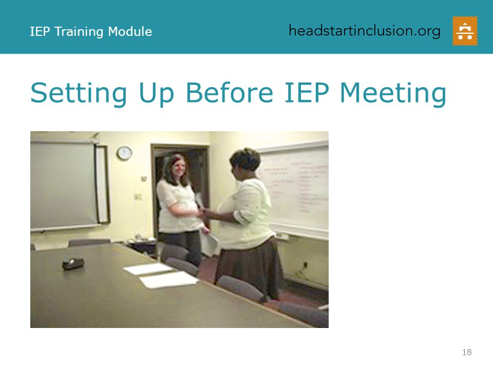 Setting Up Before IEP Meeting