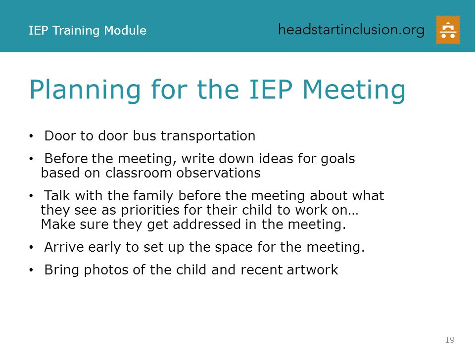 Planning for the IEP Meeting