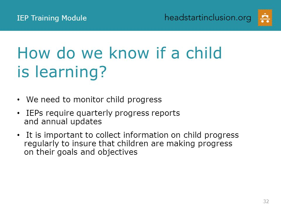 How do we know if a child is learning
