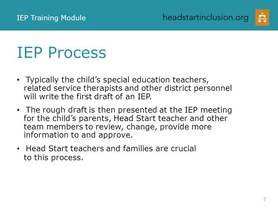 IEP Training Module IEP Process.