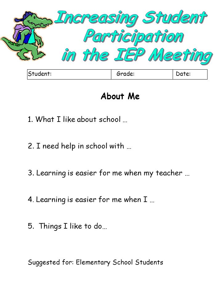 Increasing Student Participation in the IEP Meeting