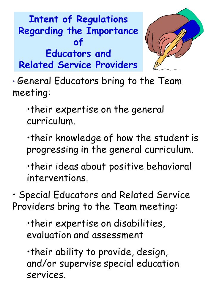 Regarding the Importance of Educators and Related Service Providers