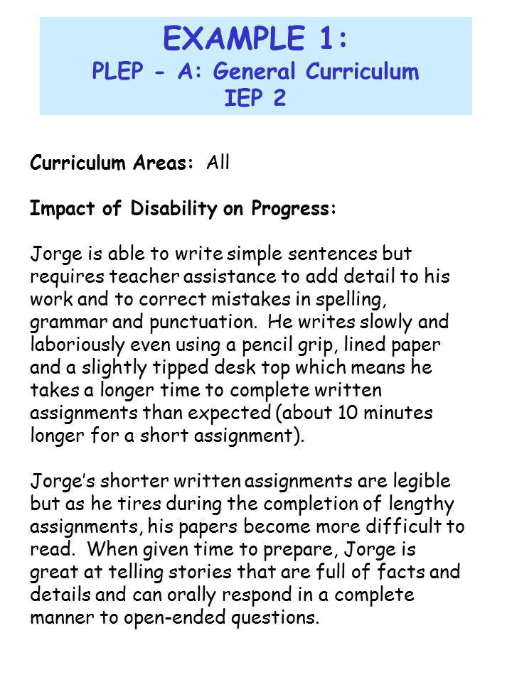 conclusion for special education This assignment will be viewing two settings giving the comparison of two early years' provisions for young children with special education needs.