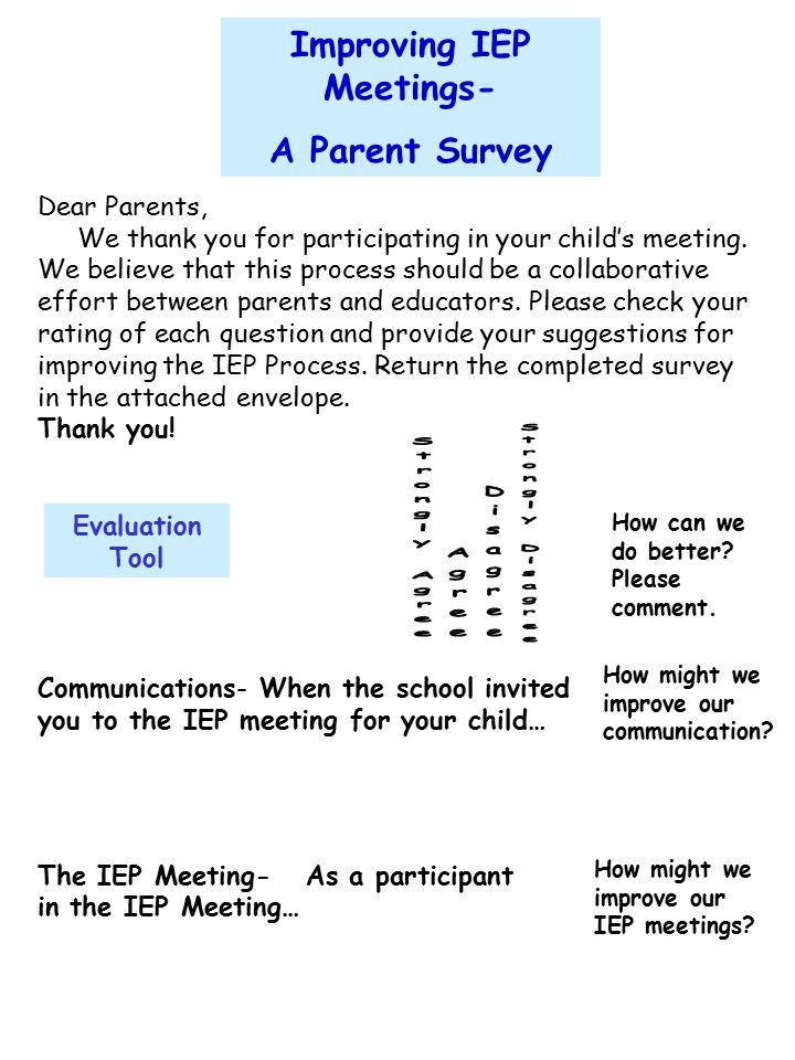 Improving IEP Meetings-