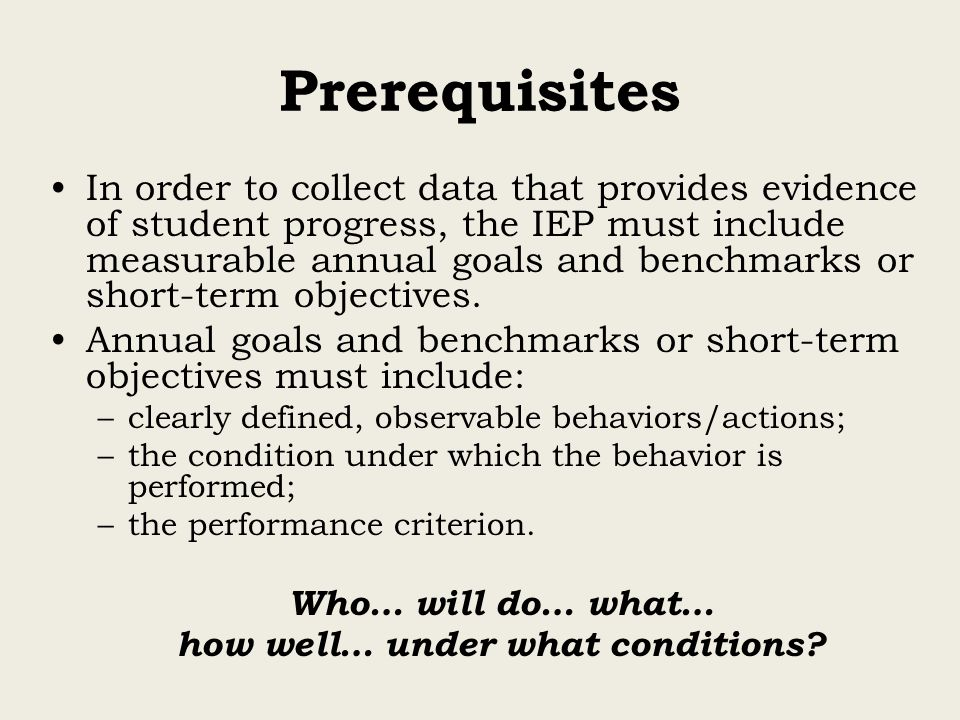 how well… under what conditions