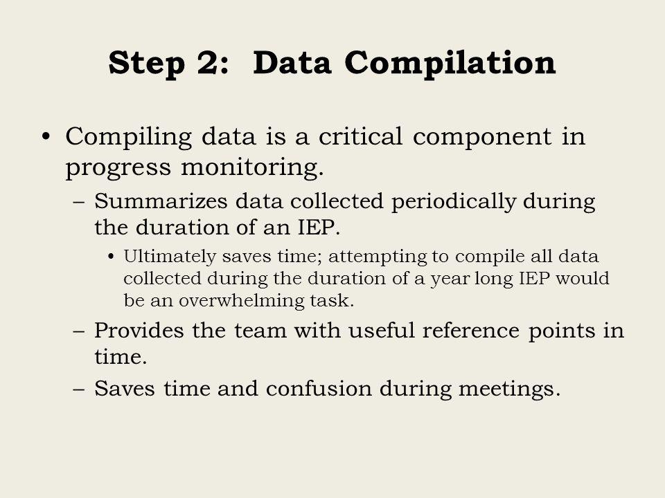 Step 2: Data Compilation