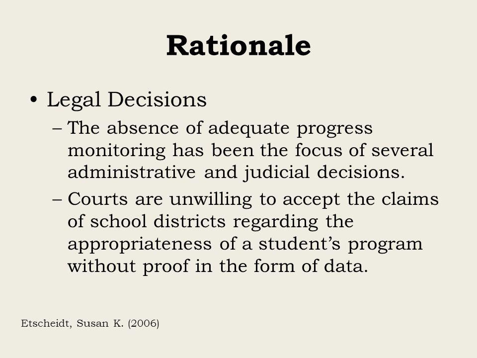 Rationale Legal Decisions