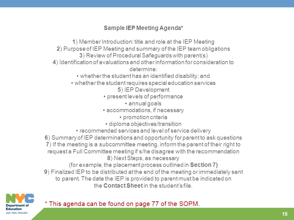 Beautiful Iep Meeting Agenda Template Inspiration - Resume Template ...