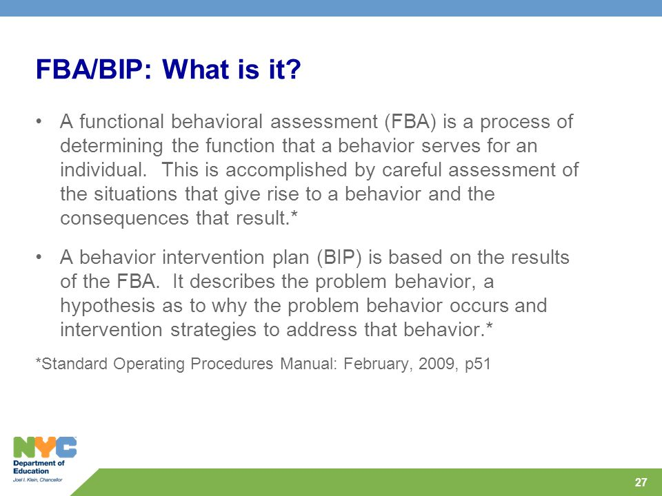 FBA/BIP: What is it