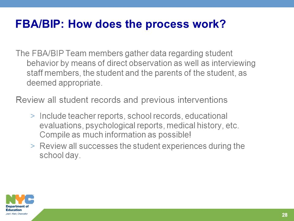FBA/BIP: How does the process work