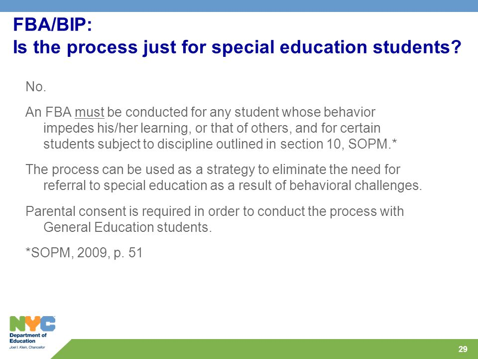 FBA/BIP: Is the process just for special education students