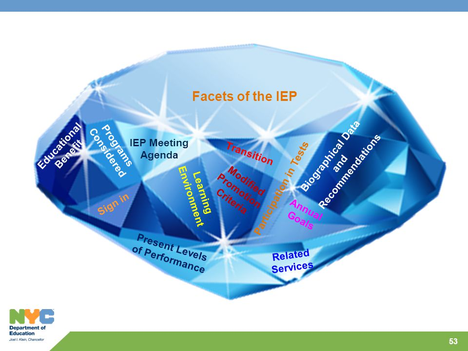 Facets of the IEP Educational Benefit Programs Considered IEP Meeting