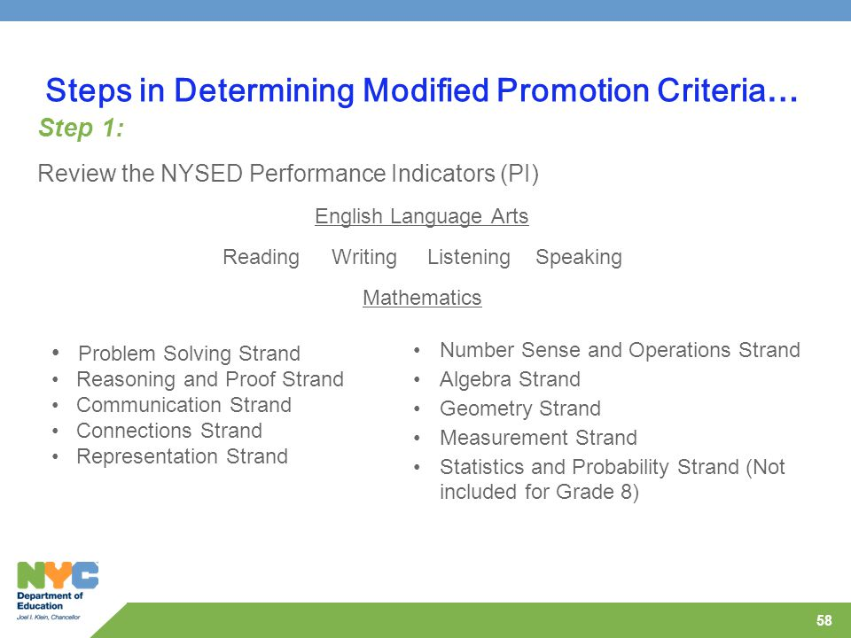 Steps in Determining Modified Promotion Criteria…