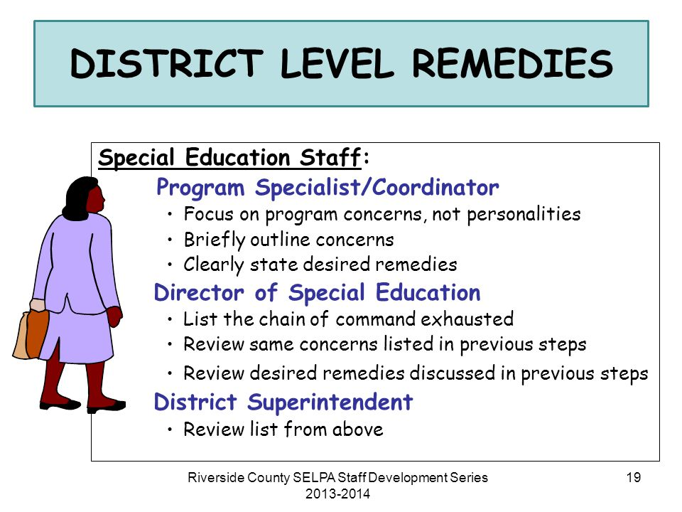DISTRICT LEVEL REMEDIES