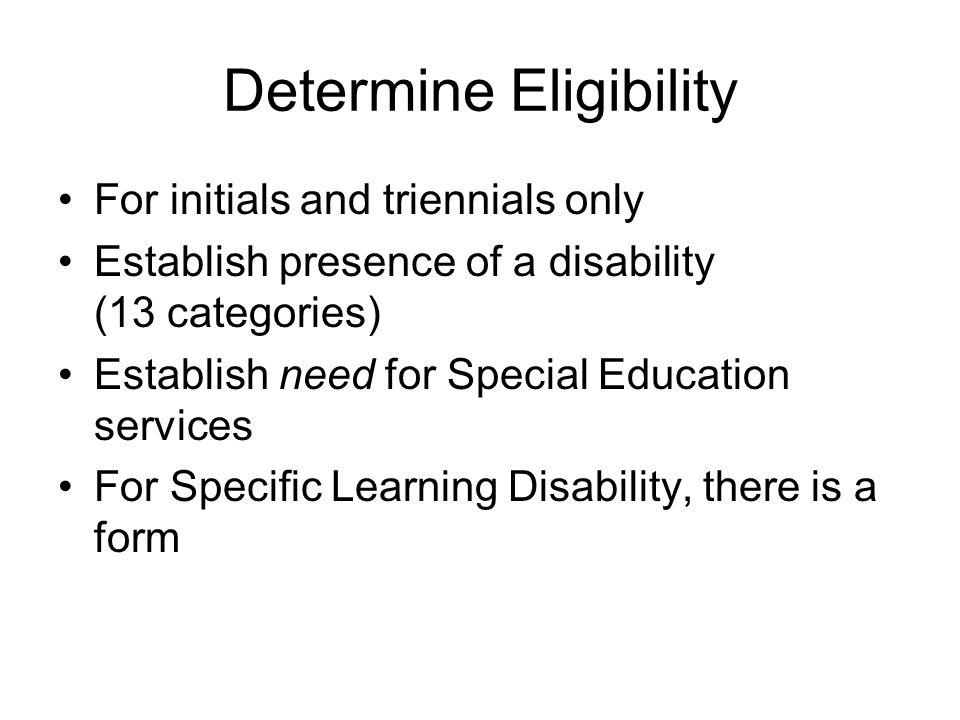 Determine Eligibility