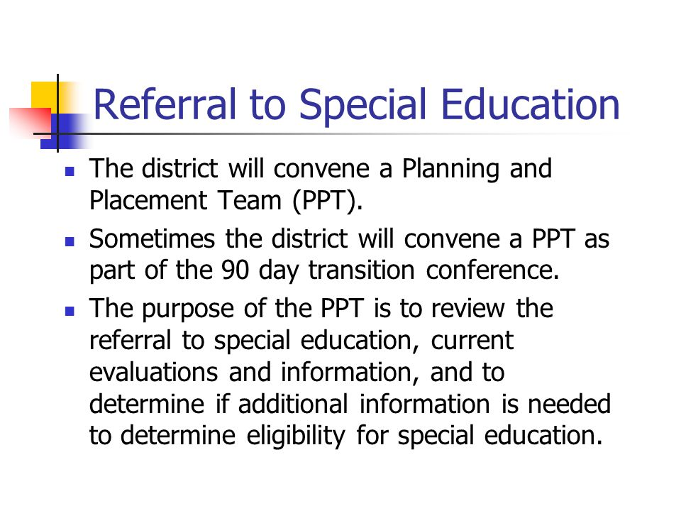 Referral to Special Education