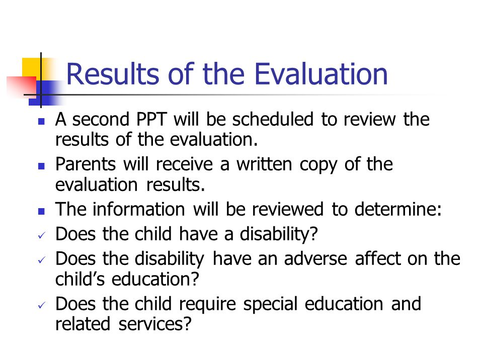 Results of the Evaluation