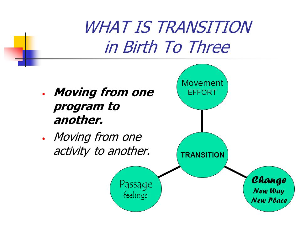 WHAT IS TRANSITION in Birth To Three