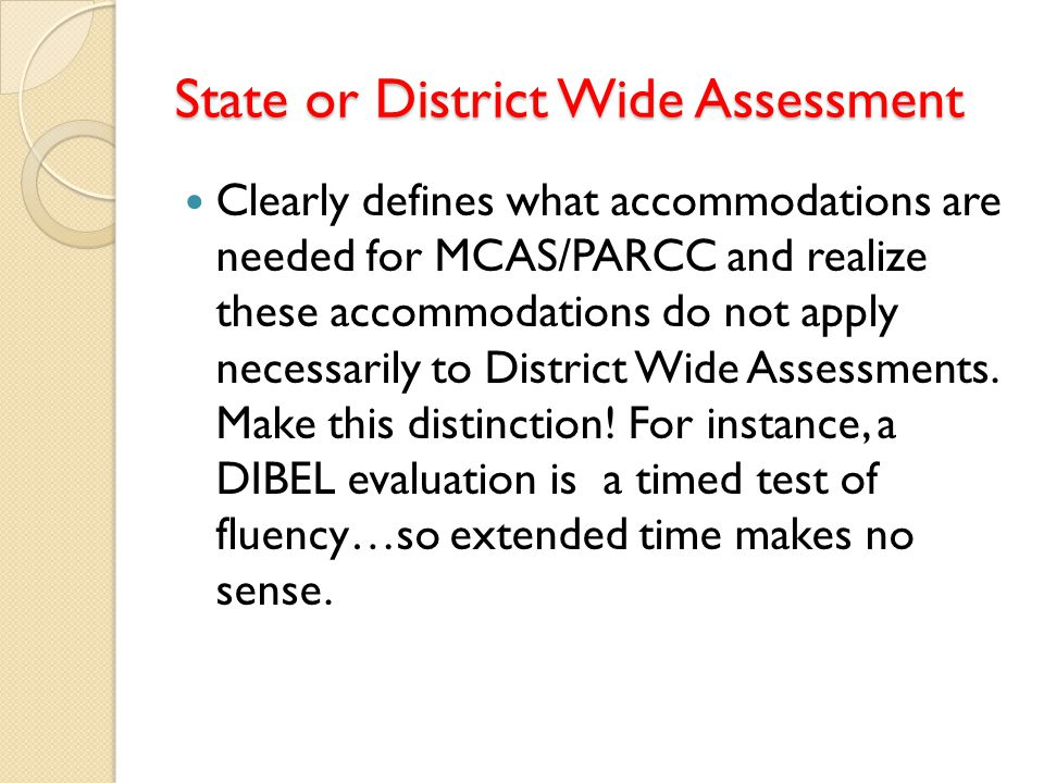 State or District Wide Assessment
