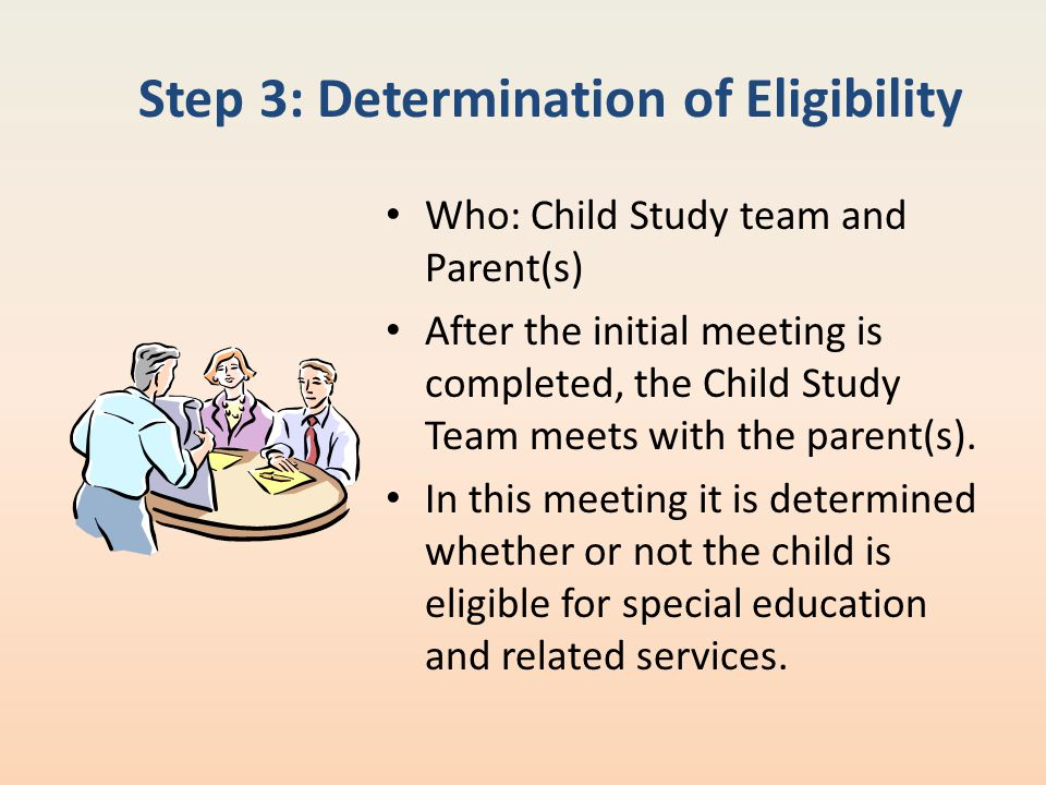 Step 3: Determination of Eligibility